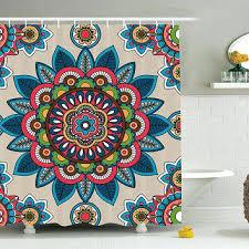 boho shower curtain colorful fl hippie mandala shower curtain boho shower curtain target
