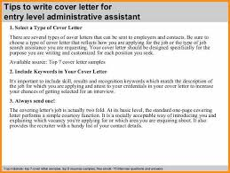 entry level administrative assistant cover letter entry level administrative assistant cover letter 3 638 cb