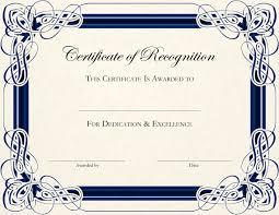 Award Certificate Template Free Free Blank Certificate Templates