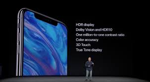 apple x. iphone x\u0027s new super retina display uses oled technology. its other specifications are 5.8\u2033 and 458 ppi. the features hdr display, apple x