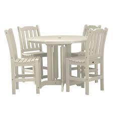 Amazoncom Highwood 5 Piece Lehigh Round Counter Height Dining Set