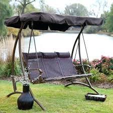 garden treasures porch swing 3 seat patio swing garden treasures 3 seat steel casual porch swing replacement canopy