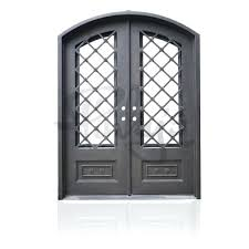 iron glass doors autumn double arch wrought iron vs stained glass door inserts