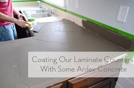 trying our hand diy laminate countertops with concrete countertop