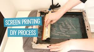 Print Home Work How To Screen Print T Shirts At Home Diy Method Charlimarietv