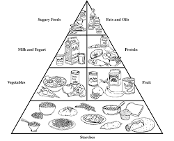 Food Pyramid For Kids Coloring Page Free Download