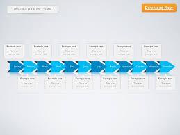 Year Timeline Template Keynote Template Timeline Arrow 2d Year