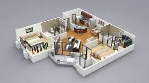 two bedroom house plans. Unbelievable Design 15 3d Two Bedroom House Plans 2 Designs 3D