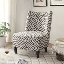 valentina accent chair in greywhite  accent chairs  accent seating