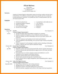 Technical Support Resume For Experienced Sample Resume For