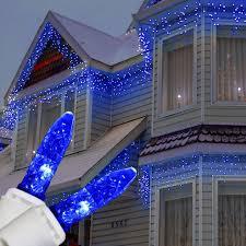 Blue White Outdoor Christmas Lights M5 Blue Led Icicle Lights Icicle Christmas Lights Blue
