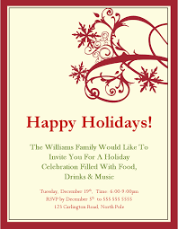 Holiday Templates Holiday Invitation Template Gallery For Website With Holiday