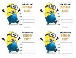 Make Birthday Invitations Online Free Printable Free Printable Minions Birthday Invitations Where To Print Make A