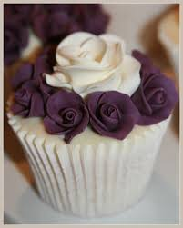 pretty purple cupcake. Fine Purple Purple Rose Wedding Cupcakes To Pretty Cupcake
