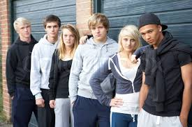 Image Colourbox Of Group Out Hanging Stock Teenagers Together