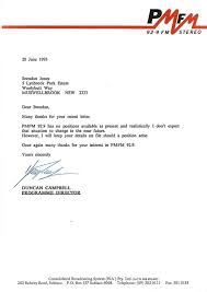 Unsuccessful Application Letter Template Thank You Letter