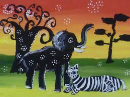 Все для учителя Выполнение рисунка животных в стиле Тинга Тинга  slide