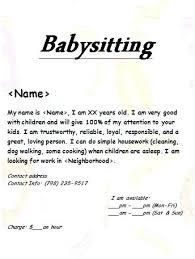 Babysitter Resume Template Amazing Babysitter Cv Template Babysitting Resume Lovely Flyer Work Of