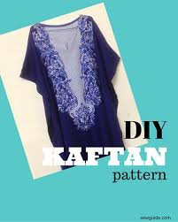 Decorate Your Own Clothes How To Make A Kaftan Dress Or Top Free Pattern Sew Guide