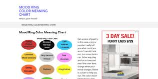 You Re In The Mood Ring Color Chart Mood Ring S Color Meaning Mood Ring Color Meaning Chart