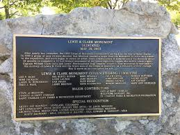 interpreting lewis and clark in st charles missouri exploring lewis and clark monument text 1