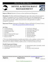 Newest Hotel And Restaurant Management Resume Sales Manager Assistan