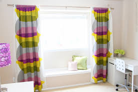 Diy Curtain Wall Curtains And Drapes Colorful Diy Curtain White Painted Wall