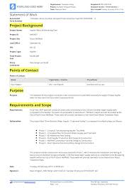 design statement of work statement of work construction example and free template