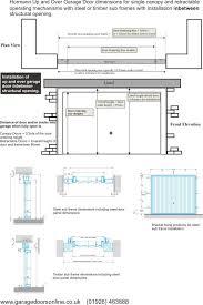 industrial garage door dimensions. Hormann Dimensions For Up And Over Single Doors Industrial Garage Door