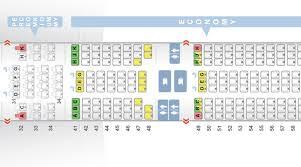 the seatmap of premium economy versus economy on the 777 300er