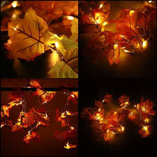 Fall Garlands With Lights Christmas Lights Fall Garlands Decoration Holiday Maple