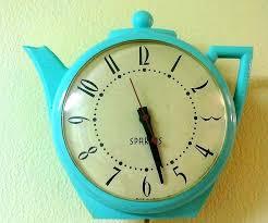 retro kitchen wall clock clocks marvelous retro blue wall clock blue kitchen wall clocks round white