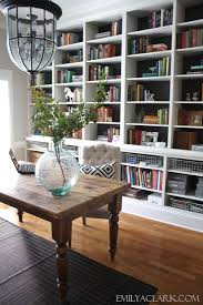 shelving for home office. Wonderful Office Neutral Home Office With Builtin Bookshelves On Shelving For Home Office E