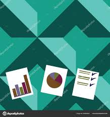 Individual Graph Paper Individual Colorful Presentation Of Bar Column Data And Pie