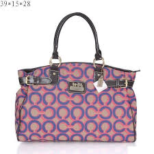 Coach Legacy C Monogram Medium Pink Totes EQZ