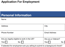 Sample Generic Application For Employment Adorable 48 Customizable Employee Job Application Forms PDF Word