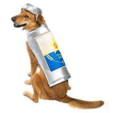 Details About New Tags Thrills Chills Beer Can Dog Game Day Costume With Hat Sz Small