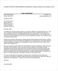 cover letter recommendation 9 librarian cover letters free sample example format download