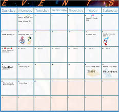 Activity Calendar Template For Seniors Monthly Activity Calendar ...