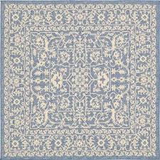 outdoor allover navy blue 6 0 x 6 0 square rug outdoor allover navy blue
