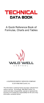 Well Control Formulas Charts And Tables Free Download Technical Data Book