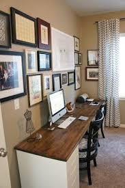 home office double desk. Pretty Dubs: Desk Idea - Two Filing Cabinets And A Piece Of Wood? Hmmm · Double OfficeOffice DeskOffice SpacesHome Home Office