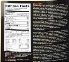 100 gold whey protein ings ings break down per 30 4 g
