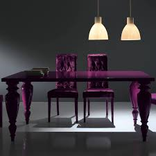 italian lacquer dining room furniture. Purple Heart Dining Table - Modern Italian Lacquered Room Set Lacquer Furniture