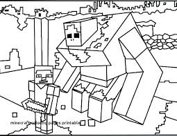 Minecraft Coloring Pages For Print New Kids Printable Herobrine On