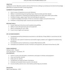 Best Automotive Technician Resume Example Livecareer With Auto