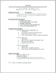 Sample Resume For Housekeeping Letter Resume Directory
