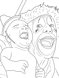 Small Picture Haunted Clowns Coloring Coloring Pages