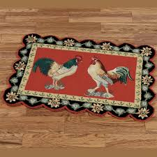 barnyard rooster rectangle rug touch to zoom