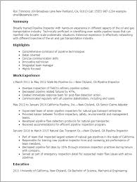 ... Skillful Ideas Quality Inspector Resume 11 Professional Pipeline  Inspector Templates To Showcase Your Talent ...